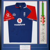 England cricket top with bat