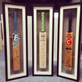 we custom make perspex cradles to hold the bat into place