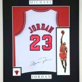 Signed Michael Jordan singlet.